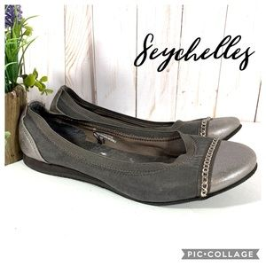 "Seychelles ""Triangle"" ballet flats grey silver 6M"